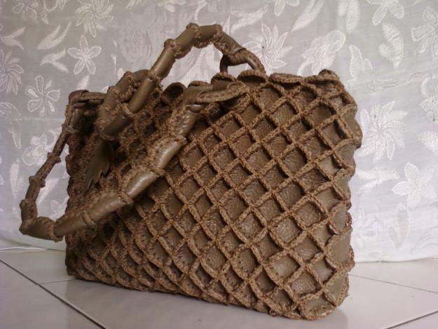 tas kulit rajut handmade