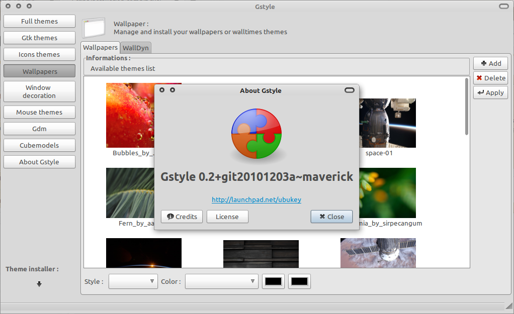 GStyle: One-stop GNOME Theme Manager