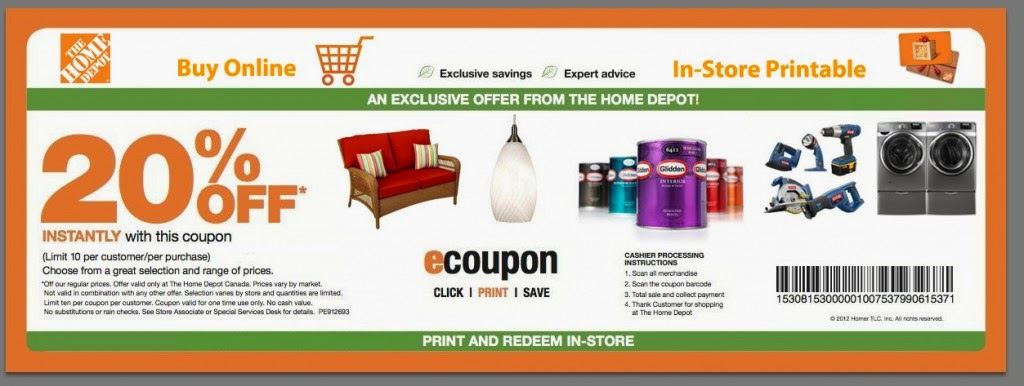 View Home Depot Deals How to Use Coupons and Codes. Home Depot Tips & Tricks Home Depot has a Specials & Offers section on their site, Special Buy of .