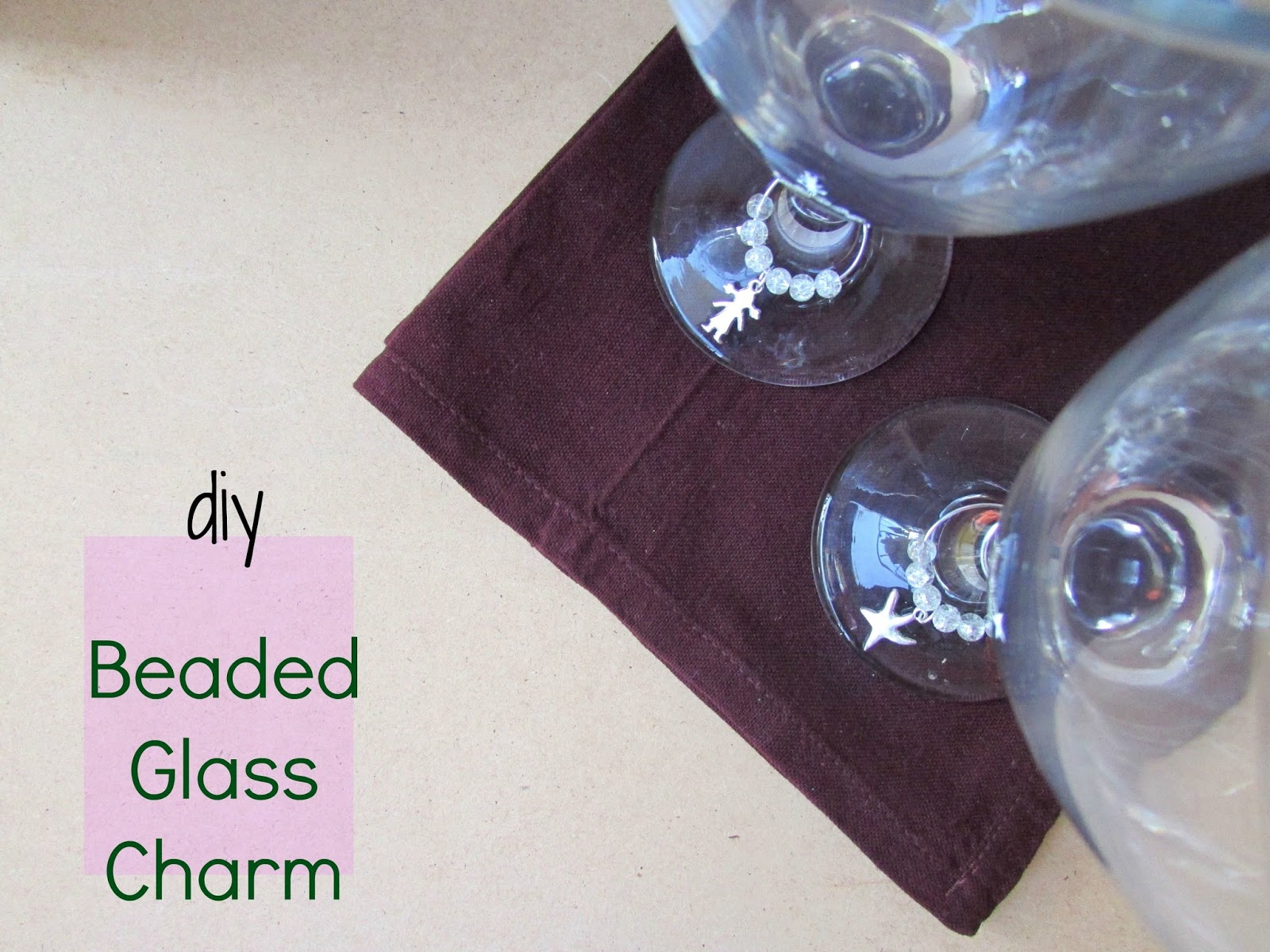 DIY Christmas Dinner Decor, Beaded Glass Charms!!!