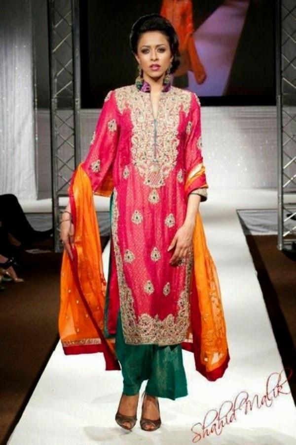 Color Mehndi Dresses 2014
