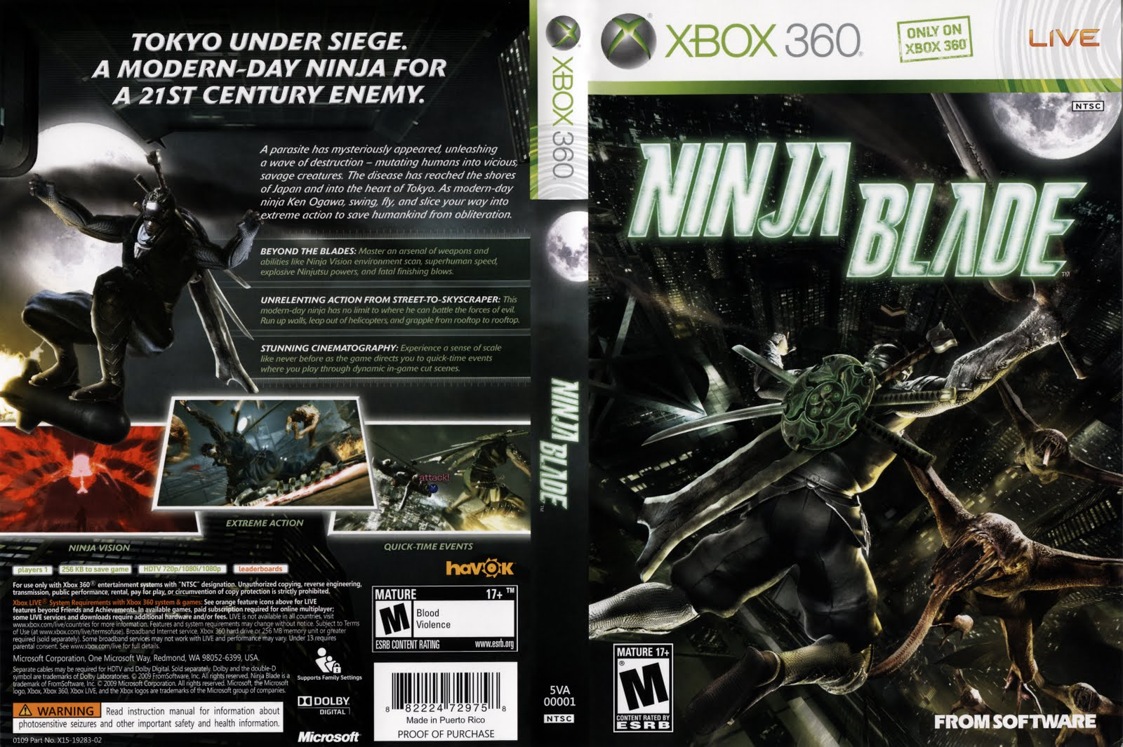 Games Covers: Cover Ninja Blade - Xbox 360