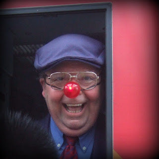 The Train Driver at Waterloo on Red Nose Day for Comic Relief ~ photo Sophie Neville