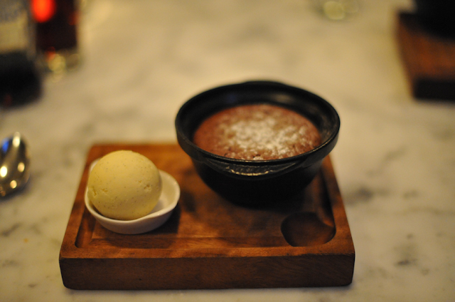 toms kitchen chelsea london chocolate hot pot with pistachio ice cream