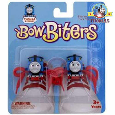 Boot and trainer fashionable Thomas the train shoes Bow Biters lace locks kids footwear adornments