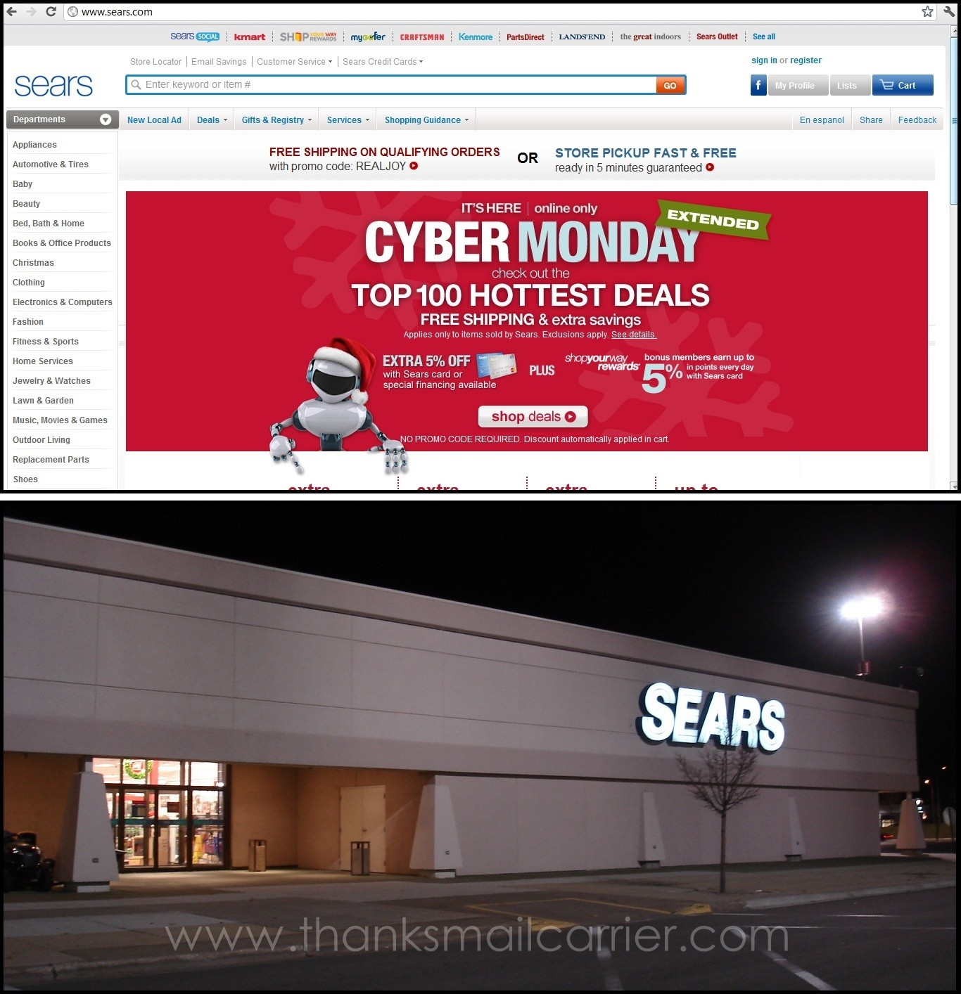 Sears Shopyourway gives you the best online deals. Get the best online offers on appliances, clothing, shoes, jewelry, beauty products, tools and more.