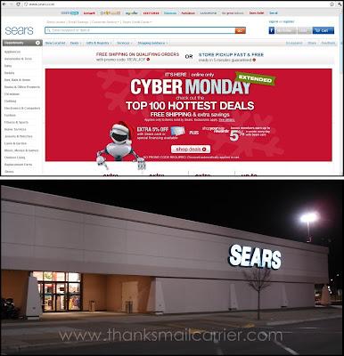 Sears online in store