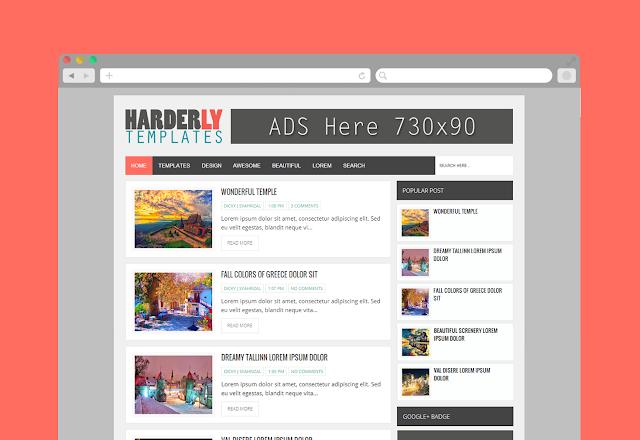 Harderly - Template Blogspot Responsive tin tức đẹp chuẩn SEO
