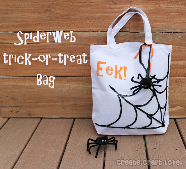 spiderweb treat bag