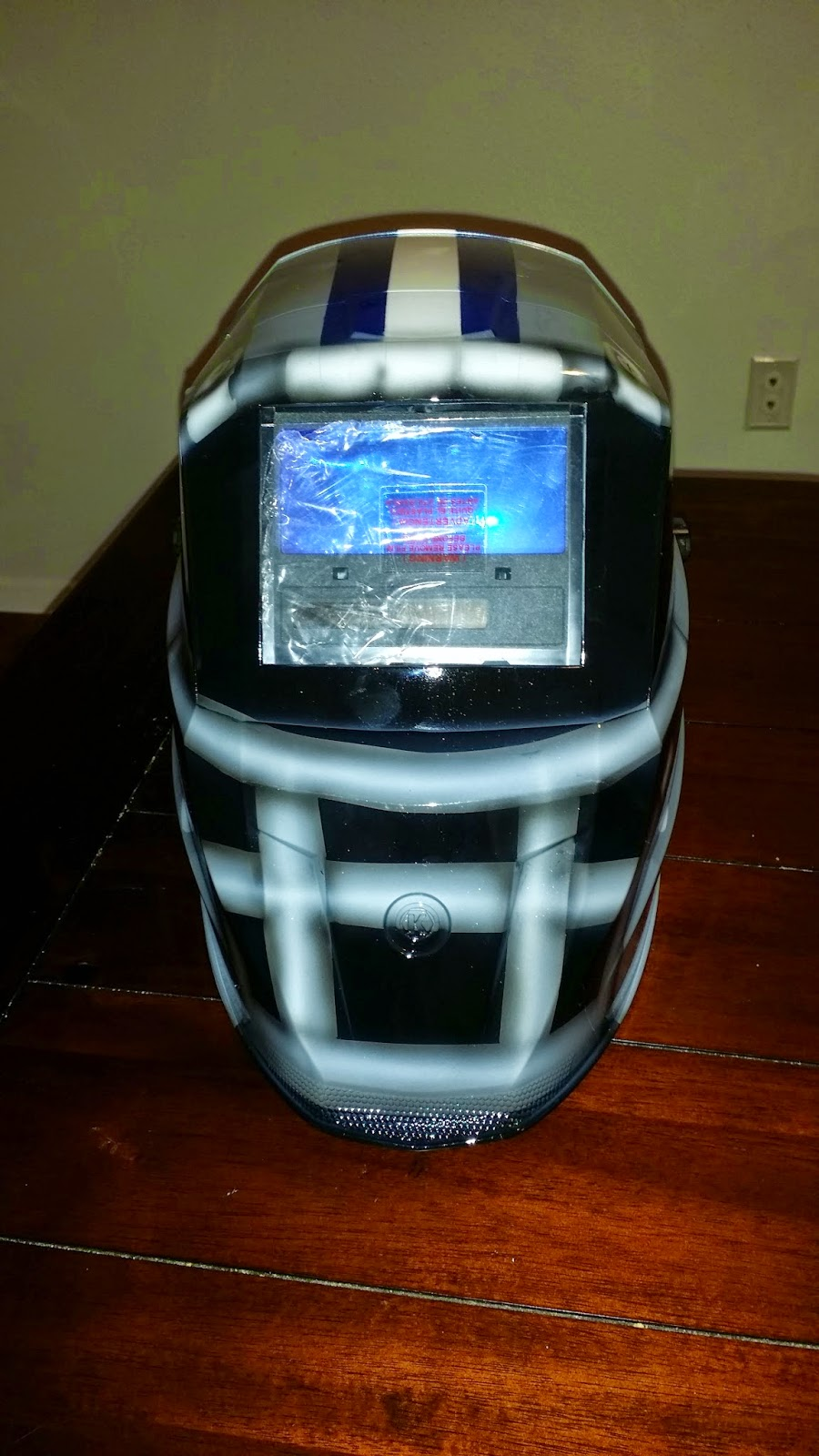 zimmer designz custom paint dallas cowboys welding helmet
