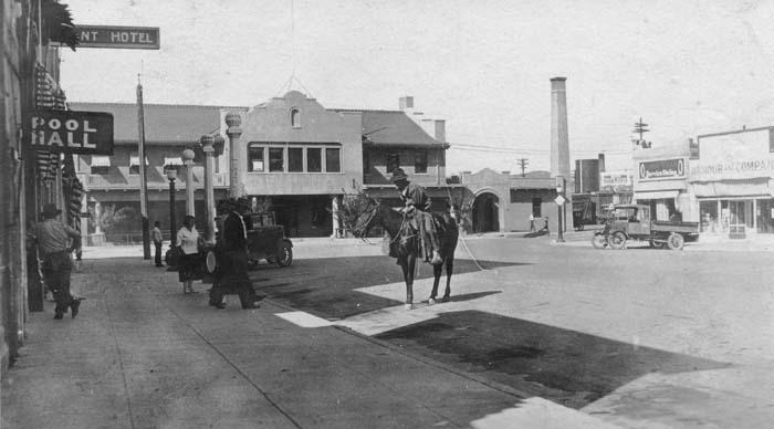 Prescott Depot Scene 1928