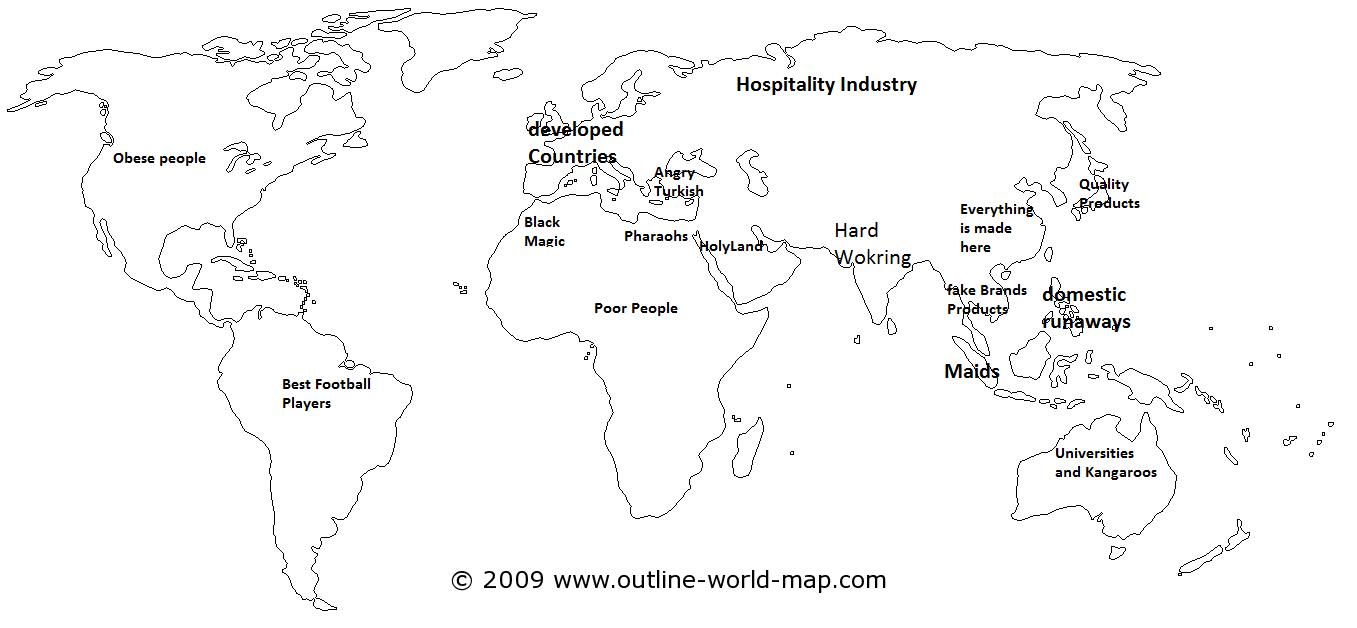 PZ C blank world map
