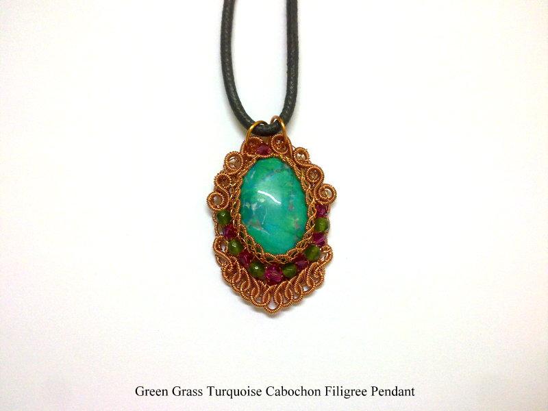Emily Secret Passions: Handmade Wirework Jewelry ~ Green Grass ...