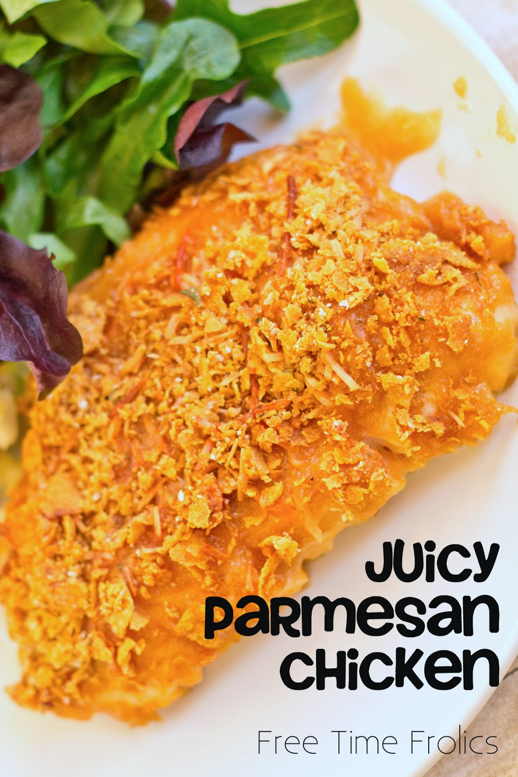 juicy parmesan chicken www.freetimefrolics.com #recipe #chicken