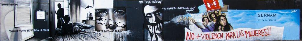graffiti de izak no violencia para la mujer en antofagasta, chile