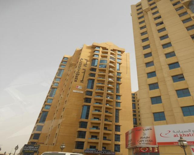 Al khor tower ajman 3BHK plus hall with maid room available for rent AED 45000 per month ajmna property finder