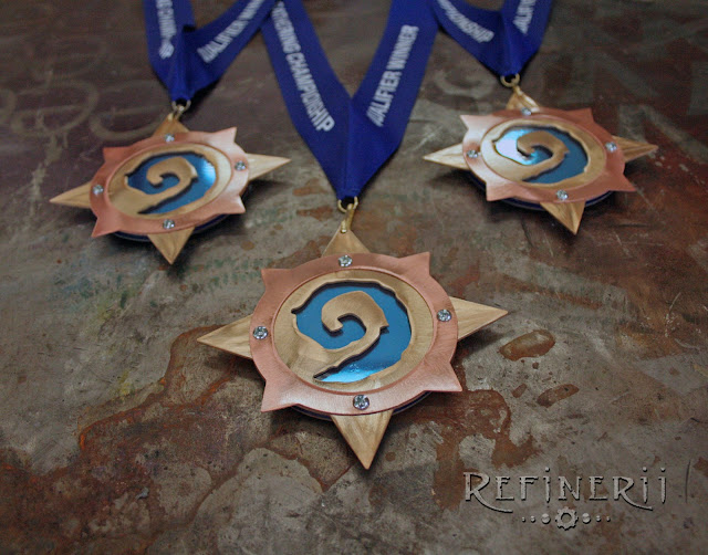 custom medals made for a HearthStone tournament