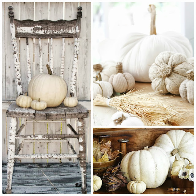 White or neutral Fall decoration