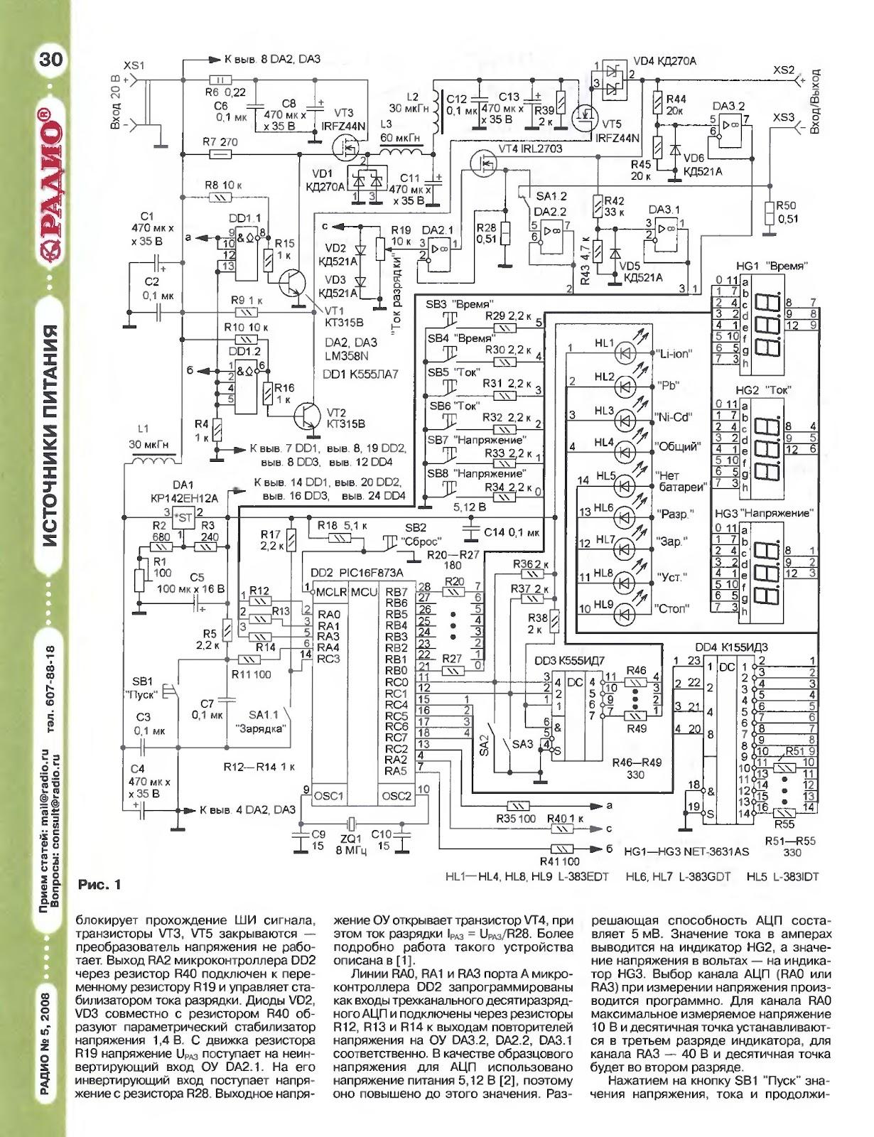 Зарядное устройство машинных аккумуляторов  ЭЛЕКТРОН3М