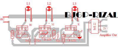 PCB Lampu Disco 5 Wat
