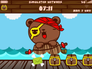 Tema Blackberry Kartun Teddy Jacko
