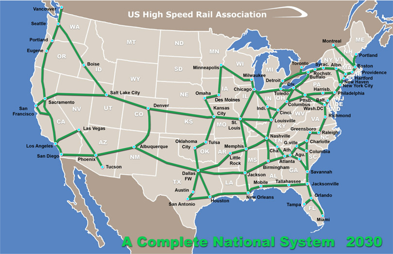 national high speed rail network coming to usa