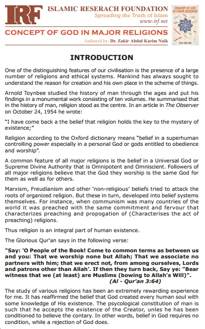 The concept of God in major religions pdf English book