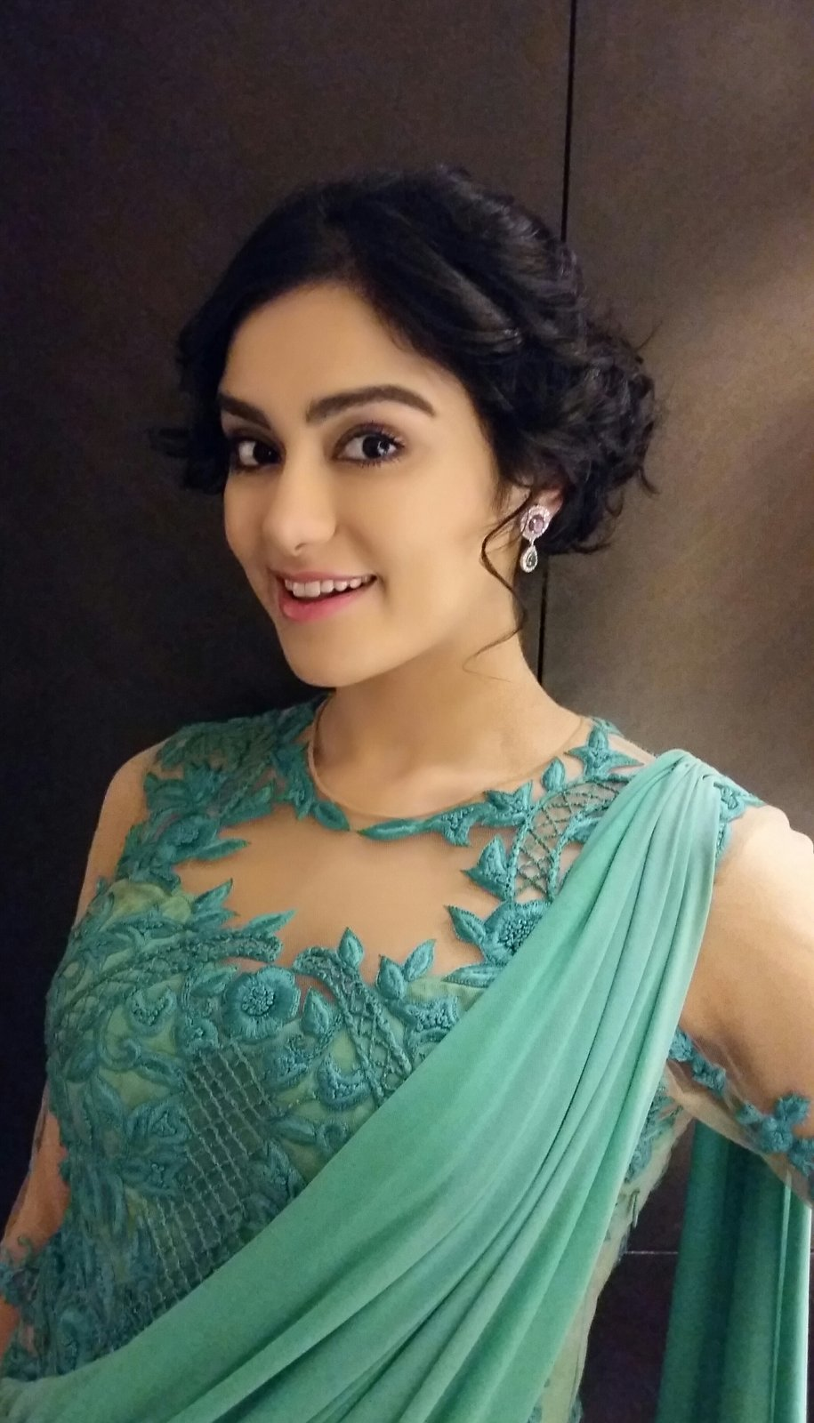 Adah Sharma Dazzling pics in green dress-HQ-Photo-2