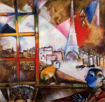 París per la finestra (Marc Chagall)