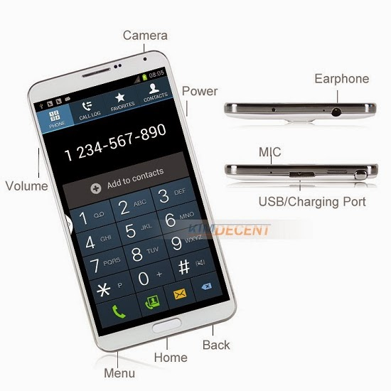 Chinese Samsung Galaxy Note 3 Clone