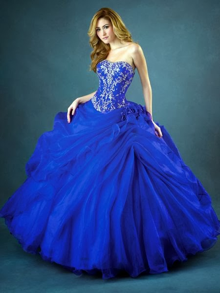 Blue Prom dress for ladies