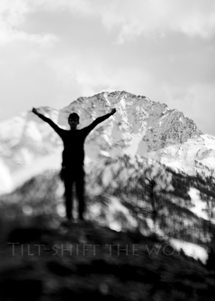 man climbing in alps