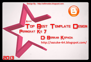 Award Pertama Sasuke Blog dari ADITMADZS