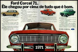 propaganda Ford Corcel - 1970; história anos 70; propaganda década de 70; Brazilian advertising cars in the 70s; reclame anos 70; Oswaldo Hernandez;