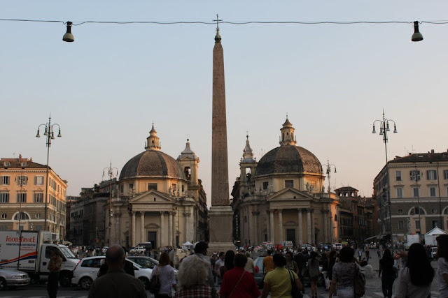 Piazza del Popolo is a famous square in Rome, Italy