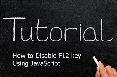 How to Disable F12 key Using JavaScript