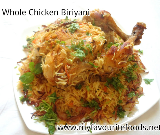 whole chicken biriyani