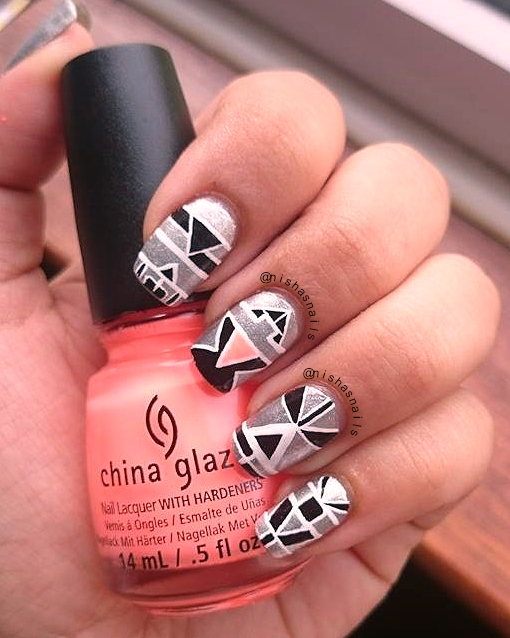 Nishas Nails Sci Fi Aztec Nail Art
