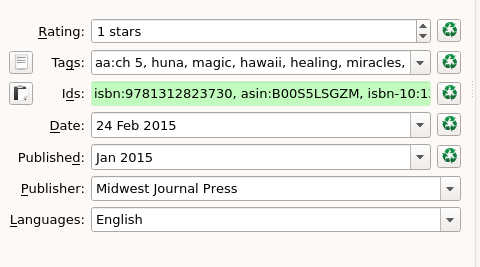 I post all my ISBN/ASIN data in Calibre to keep all my meta-data in one spot