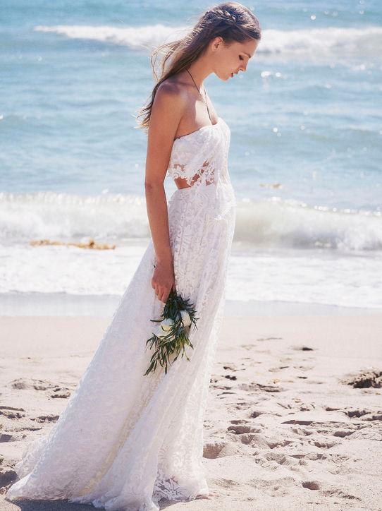 Прическа свадьба на море