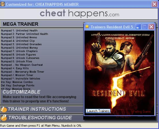 Download Trainer Resident Evil 5 Cheat Codes Pc Game Cheat | Apps ...