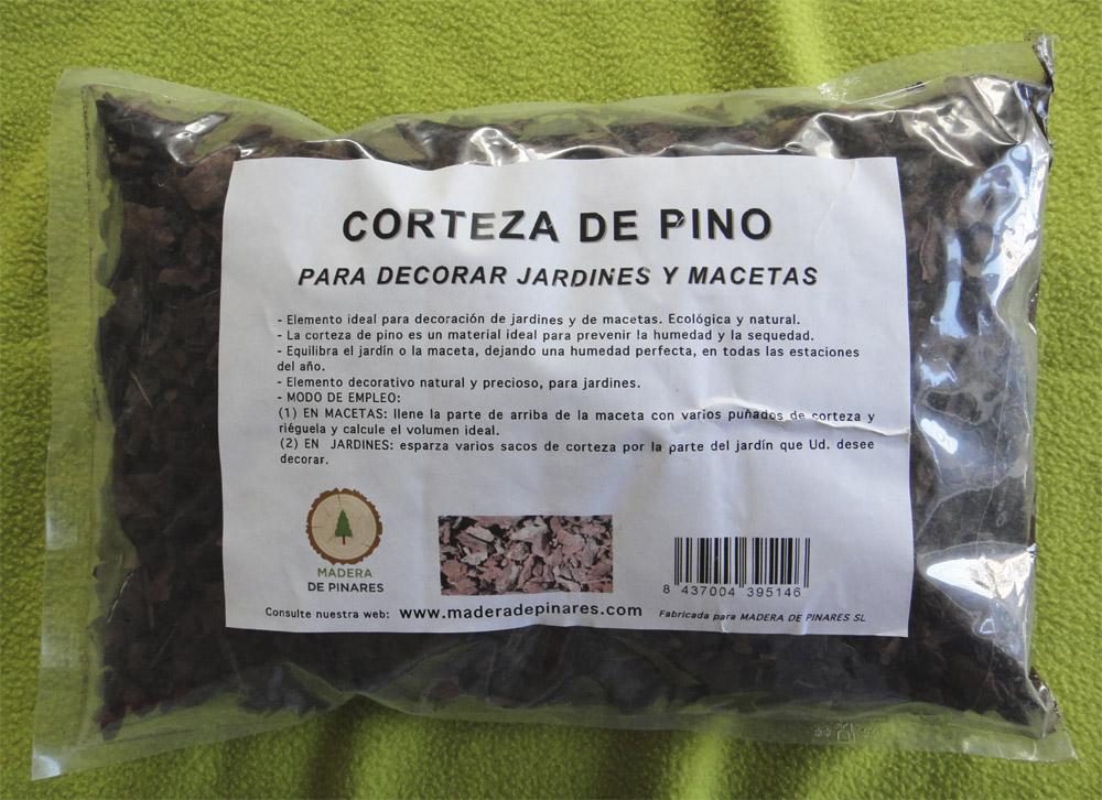 Corteza decorativa especial para macetas madera de - Corteza de pino ...