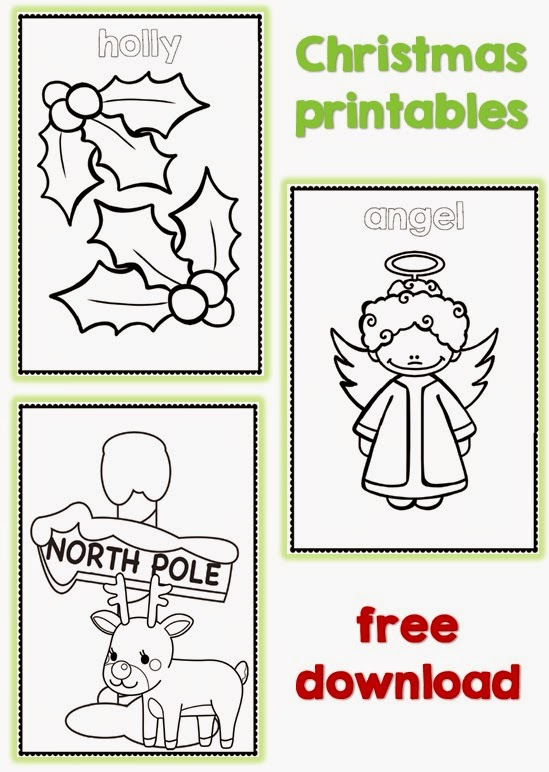 Christmas coloring pages freebie sample