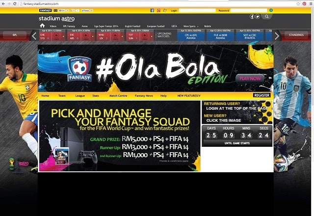 Stadium Astro Fantasy #OlaBola Edition