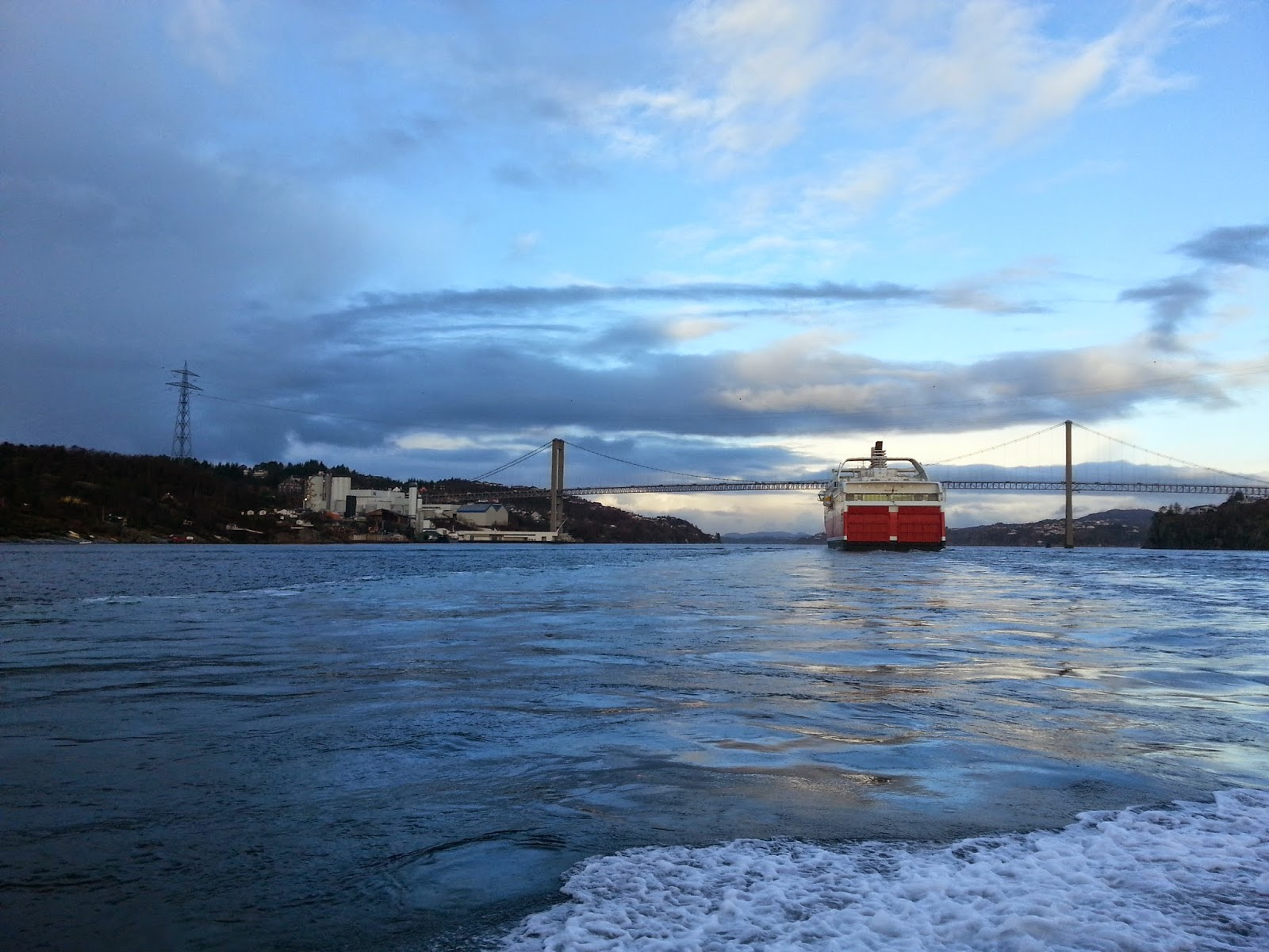 Fjordline Cruise Ferry MS Stavangerfjord in Bergen, Norway