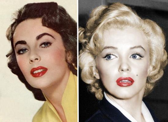 50s actresses, rockabilly make up, vintage make up
