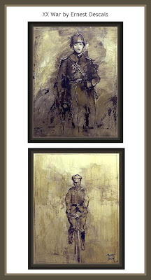 PINTURA-GUERRA-WW2-WAR-PAINTINGS-PINTOR-ERNEST DESCALS