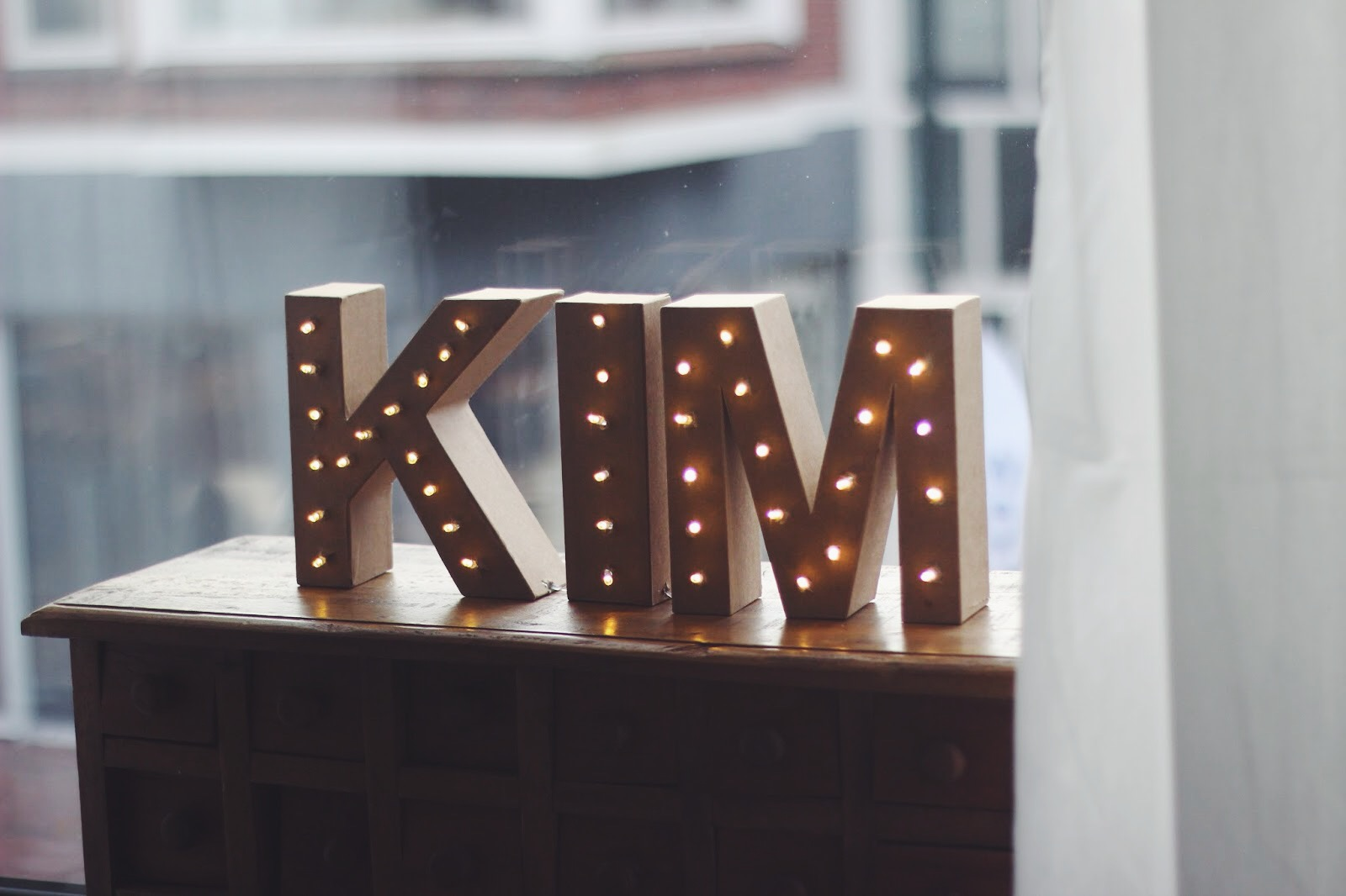 DIY letterlamp