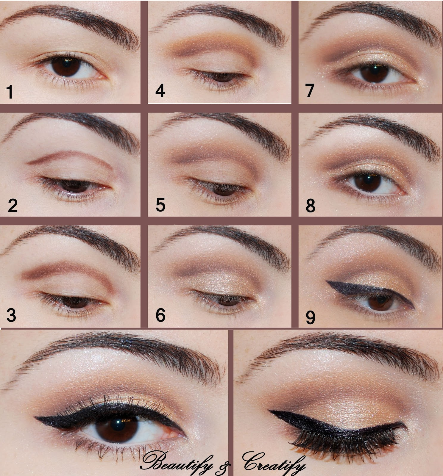 How To Do Simple Eye Makeup You. Gold Simple Eye MakeupGold Eye ...