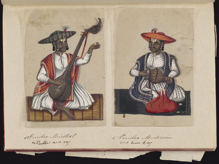 Hindoo minstrel and Hindoo musician